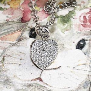 Jewelry - 14K YG .25 Cttw Pave Diamond Heart  Necklace